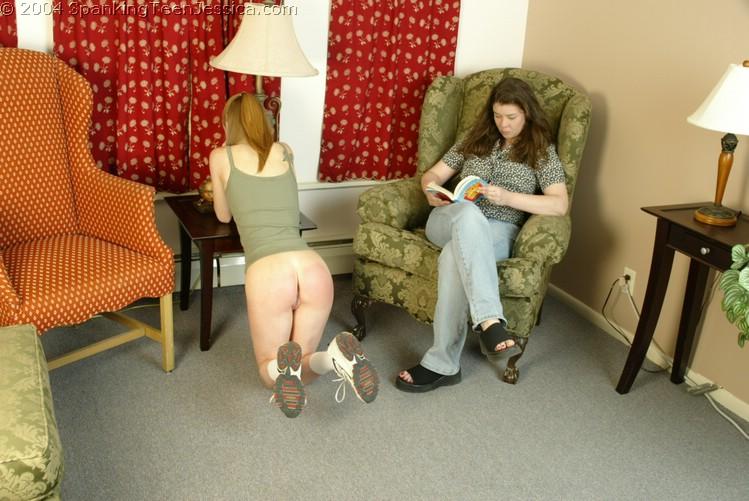 Spanking corner time panties