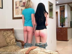 Teen bottoms in corner time