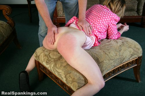 teen girl bare bottom spanking from dad
